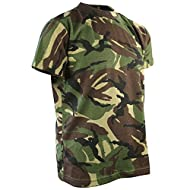 Round neck, short sleeve and all over camouflage pattern Ideal t-shirt for everyday use or playtime for a small soldier Material composition: 65 percent polyester, 35 percent cotton Ideal for indoor and outdoor activities Quick dry properties