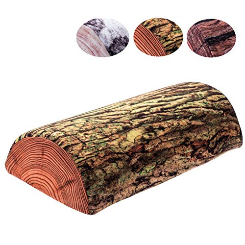 KADAX Halbrolle, Nackenrolle aus Schaumstoff, 40 x 21 cm, Kopfkissen mit waschbarem Bezug, Kissen für Bett, Nacken, Relaxkissen, halbrund, Lagerungsrolle, geeignet für Allergiker (Bemoost)