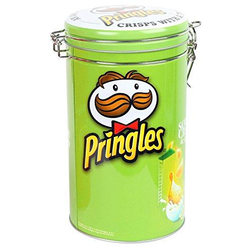 3pc Pringles Verde Cilindro plástico caja de almacenamiento cocina recipiente para comida contenedor