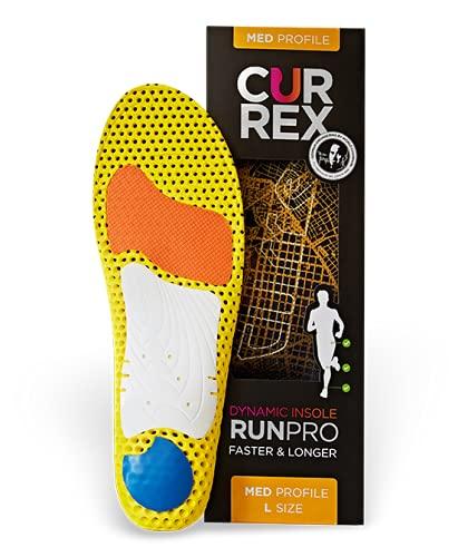 CURREX RunPro Sohle – Entdecke Deine Einlage für eine neue Dimension des Laufens, Dynamische Einlegesohle, Gelb- Med Profile Gr.- EU 37-39/ S