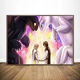 meilishop Impresión En Lienzo Pintura Cómo Entrenar A Tu Dragón Póster Impresión HD Cuadro De Arte De Pared Decoración De Habitación De Niños Pegatinas De Pared A629 (50X70Cm) Sin Marco