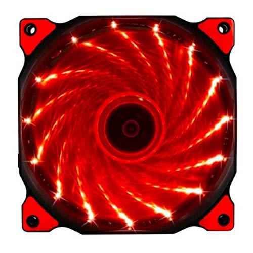 Lodenlli Ventilador de refrigeración Led Ultra silencioso para Ordenador de 120mm, radiador de 12 cm, Ventilador silencioso, Ventilador de 15 LED Streamer
