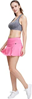 sdtdia Ladies/Womens Pocket Pleated Skort Athletic Mini Skirts Casual Skater Skirt Windproof Quick Dry Sports Skort