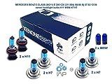mercedes-benz e-class w211 e 200 cdi 211.004 90kw, bj 07.02-12.08 lampadine allo xenon h11 w5w h7 h7