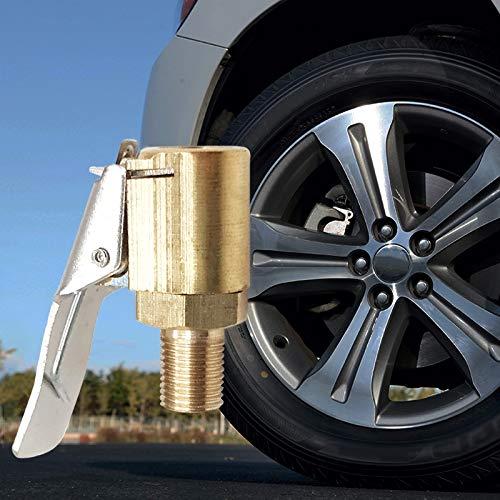 WXX Válvula de la Bomba for inflar con Aire del neumático Rueda de Coche de Aire del neumático Chuck Abrazadera del Clip del Conector