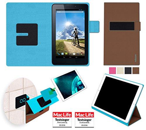 Hülle für Acer Iconia Tab 7 (A1-713/A1-713HD) Tasche Cover Hülle Bumper | in Braun | Testsieger