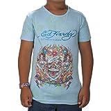 Ed Hardy Big Girls' Tiger T-Shirt - Sky Blue - Large