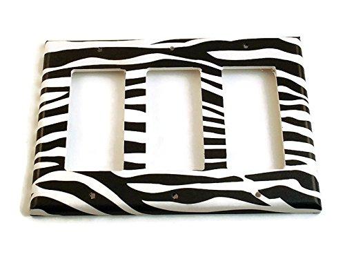 Triple Rocker Switch outlet Translated Zebra 086TR Plate