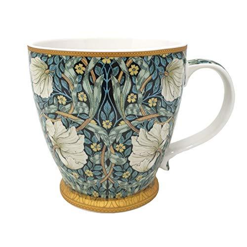 China Breakfast Mug/Cup - Large 380ml Capacity, Individually Boxed (William Morris Pimpernel)