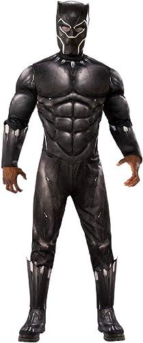 Horror-Shop schwarz Panther Muskel Kostüm aus dem gleichnamigen Kinoerfolg aus Wakanda One Größe