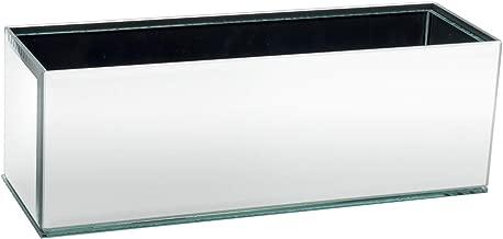 Royal Imports Flower Glass Vase Decorative Centerpiece for Home or Wedding Oblong Rectangle Shape, 12