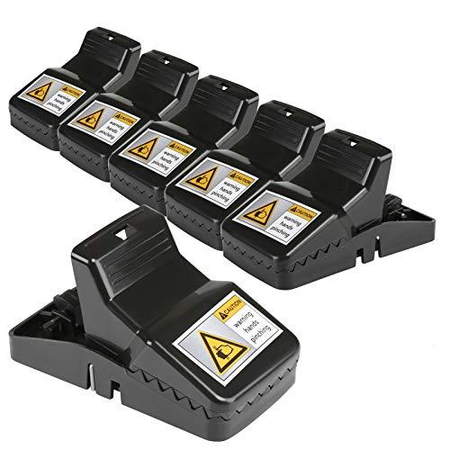LIHAO 6x Ratoneras Trampas Reutilizables Trampa de Ratón Trampa Profesional para Ratas