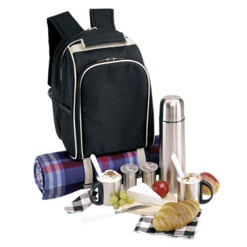 Picknickrucksack Rucksack Picknicktasche Tasche Freizeitrucksack gefüllt für 2 Personen Nr 09-2