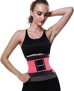 Leaflai Waist Trainer Belt for Women & Man-Yianna Waist Trainer -Waist Cincher Trimmer- Slimming Body Shaper Belt (Black&P...