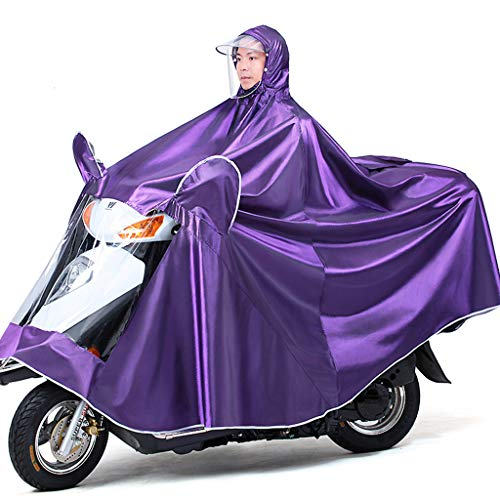 Electric Mobility Scooter Motorfiets Grote Rain Cape Coat, Om Te Fietsen, Hardlopen, Unisex - Hooded Compact Rain Cape,Purple,4XL