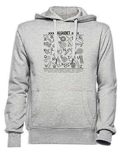 Rundi Algaebet Herren Damen Unisex Sweatshirt Kapuzenpullover Grau Größe XS - Women's Men's Unisex Hoodie Sweatshirt Grey