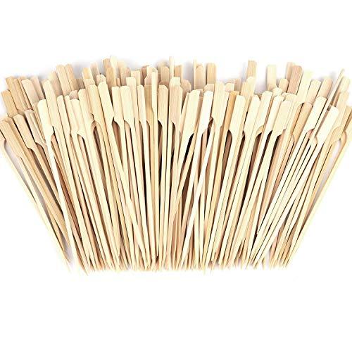 Baalaa 500 pinchos de bambú – 7 pulgadas de bambú paletas de paletas para barbacoa al aire libre, kebab, fondue y más