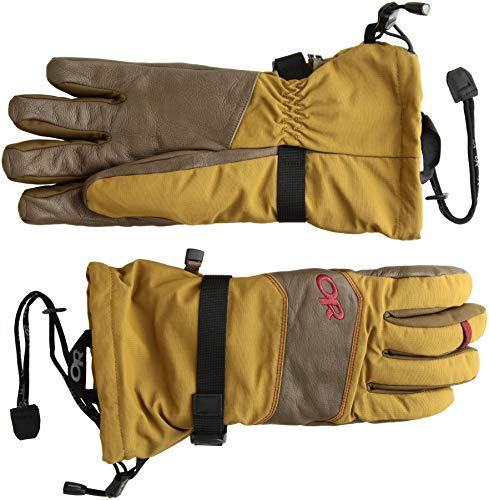 Outdoor Research Mens Highcamp Gloves OchreCarob Small