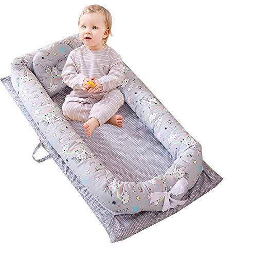 Buy Abreeze Baby Bassinet for Bed - Unicorn Baby Lounger - Breathable & Hypoallergenic Co-Sleeping B...