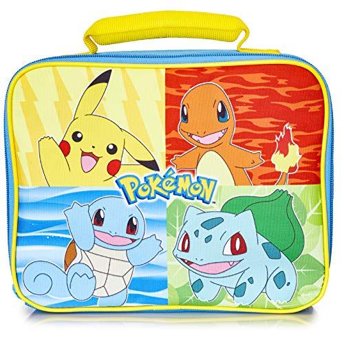Pokemon Brotdose Kinder, Pikachu Lunchbox Kinder und Teenager, Blau Lunch Bag Kühltasche Gross für Schule, Arbeit, Reisen, Lunch Box Brotdose Kindergarten, Geschenke für Kinder