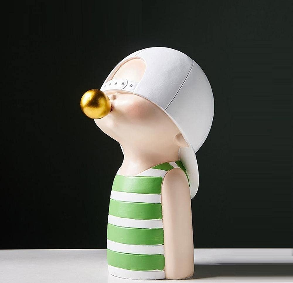 ZQQQC Head Year-end annual account Sculptures Popular product Wall Resin Modern Children Home