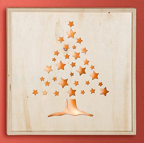 GILDE Holz-LED Bild 'X-Mas Baum', 30 cm