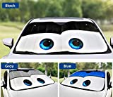 OLSUS Car Windshield Sunshade Cartoon Eyes Front Auto Sun Shield Shade Visor Vehicle Accessories Black