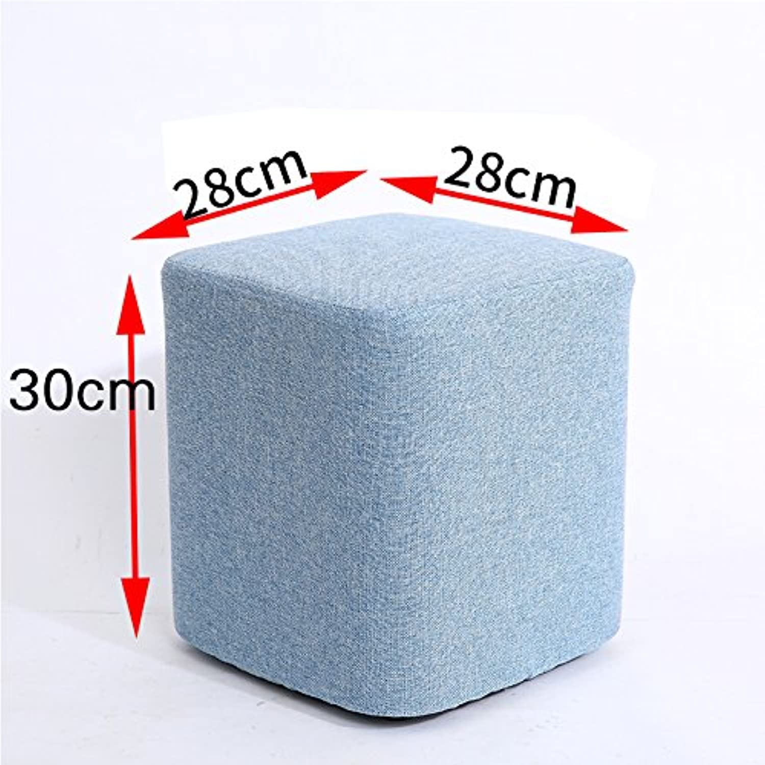 STJK BMJW Drinking Tea Thick Soft Stools Benches Fabrics Stool Home Independent Bedroom Light bluee 30Cm