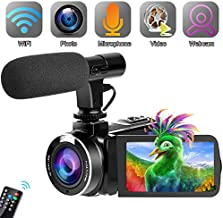 Video Camera Camcorder,Vlogging Camera for YouTube WiFi Camcorder Ultra HD 24MP 30FPS 16X Digital Zoom 3.0 Inch Rotatable Touch Screen Support IR Night Vision