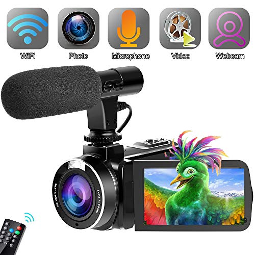 Find Discount SAULEOO Video Camera Camcorder,Vlogging Camera for Youtube WiFi Camcorder Ultra HD 24M...