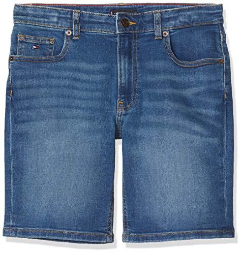 Tommy Hilfiger Jungen Rey Rlxd Tapered Ocfmbst Short, Blau (Ocean Surf Blue Stretch 1ba), Jahre (Herstellergröße: 14)