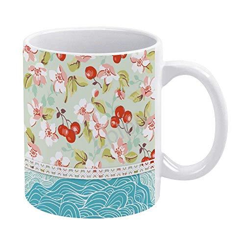 Leaves Patchword - Taza de café para hombre, niño, marido, papá, abuelo