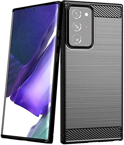 """Capa Capinha Anti Impacto Para Samsung Galaxy Note 20 Ultra com Tela de 6.9"""" Polegadas Case Com Desenho Fibra De Carbono Shock Queda - Danet (Preto)"""