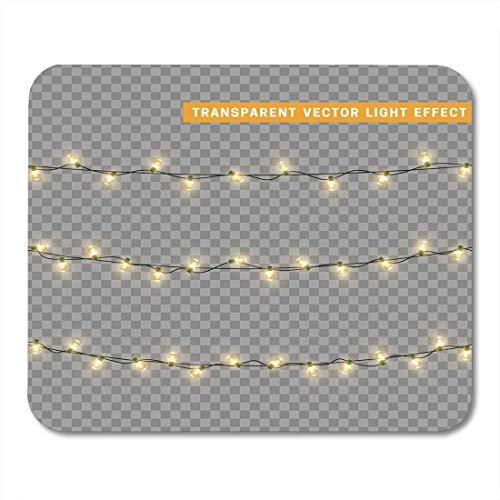 Mauspadmatte, Weihnachtsbeleuchtung Realistisches Leuchten für Weihnachtsferien Girlanden führte gute Mausmatte für den täglichen Computerraum,25x30cm