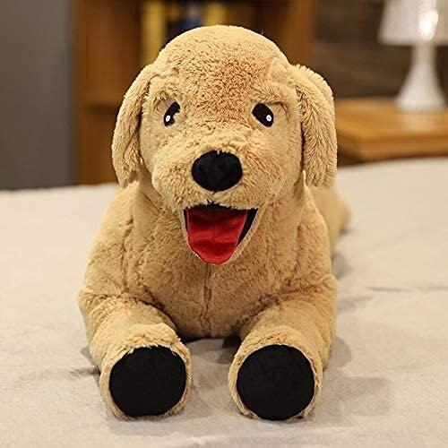 XINQ 35-75cm Simulation Labrador Hund Gefüllte Tier Plüsch Spielzeug Kissen Niedliche Shiba Inu Puppen Geburtstagsgeschenke für Kinder 35cm Champagner (Color : Champagne, Size : 75cm)