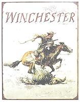 Winchester Logo ブリキ 看板 輸入品 32cm×40cm ビンテージ風