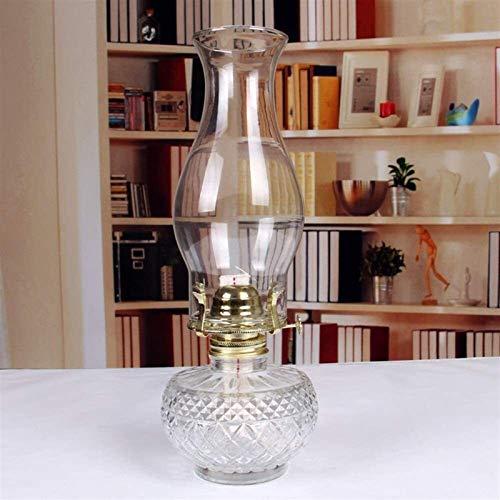 Retro Cristal nostálgico Keroseno Linterna Antigua Candlestica Lámpara de aceite Desktop Iluminación decorativa Camping Camping Luz de emergencia