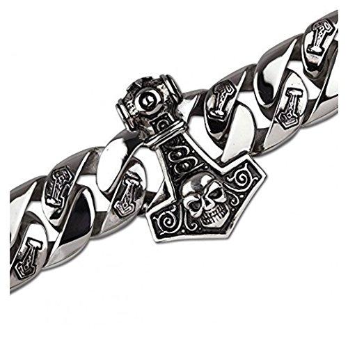 etNox-Armband ''Thor?s Hammer'' 22,5 cm, Edelstahl
