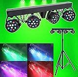Sound Active DMX - Juego de focos LED para DJ con soporte