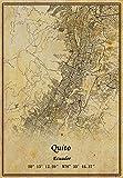 Ecuador Quito Landkarte Wandkunst Poster Leinwanddruck