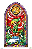Pyramid America Legend of Zelda Stained Glass Wind Waker Video Game Gaming Laminated Dry Erase Sign Poster 12x18