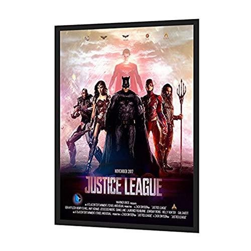 "HKSIGN-24""X36"" Backlit Movie Poster Art Picture Frame Led Light Box With Aluminum Snap Photo Frame Sign Holder (Black)"
