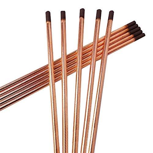 Pilang zxxin-Varillas de Soldadura duraderas, 20pcs Barras de Arco de Carbono de Carbono, Cobre Redondo DC Electrodo de Grafito Barra de Carbono Suministros de Soldadura