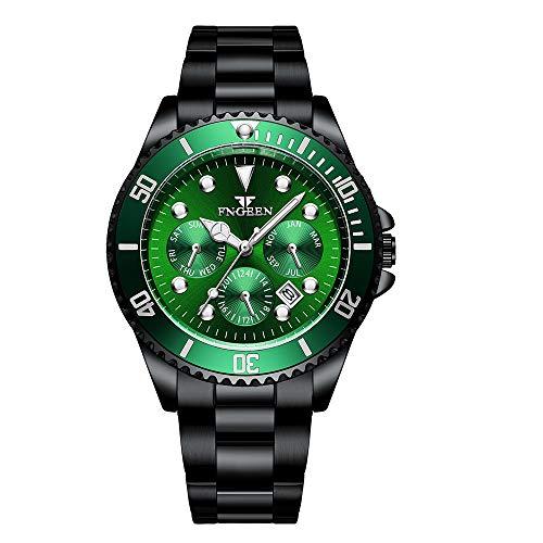 Relojes para Hombre Reloj mecánico automático Cronógrafo Reloj analógico a Prueba de Agua Movimiento Hombres Diseñador Reloj de Pulsera de Acero Inoxidable Fecha Relojes de Moda para Hombres