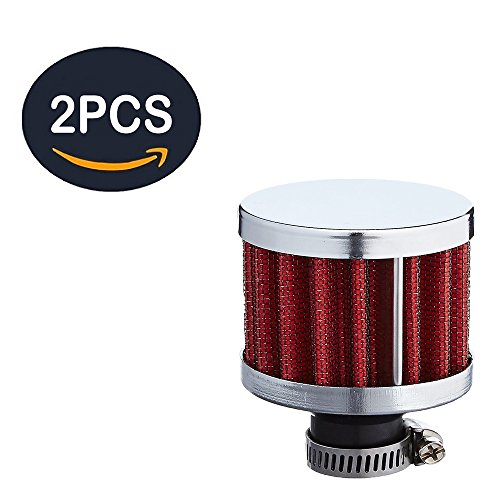 12mm Automotive Performance Little Air Filter Breather Filters Air Intake Universal Fits Most Cars Turbo Vent Car, 2pcs