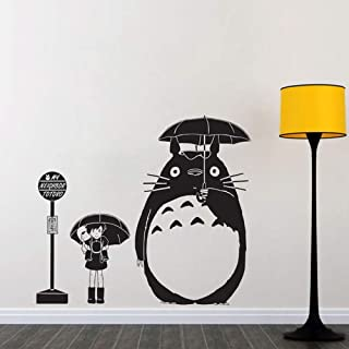 Wall Decal Sticker Mural Vinyl Arts and Sayings Mural Art Bus Stop Wall Decal My Neighbor Totoro Removable Interior Vinyl Stickers for Kids Rooms Animal Art