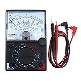 ChgImposs Mini Portable Analog Multimeter Electric AC/DC Current OHM Decibels Voltage Voltmeter Ammeter with Test Leads