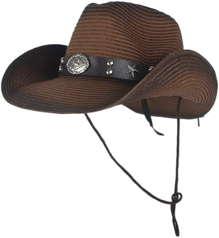 Free shipping anywhere in the nation TWEITIE New product!! Western Cowboy Hats for Men Summer Cowgirl Straw C Party