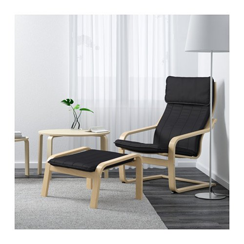 Ikea Poang Chair Armchair and Footstool Set with Covers (Machine Washable)