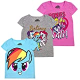 My Little Pony Girls' T-Shirt (Pack of 3) 4 Grey